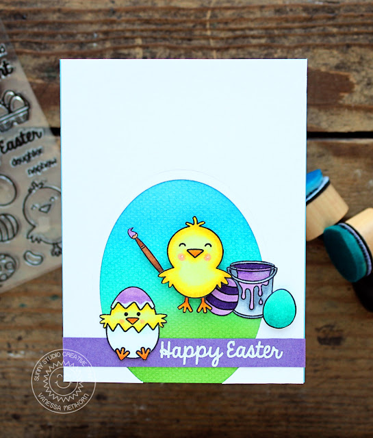 Sunny Studio Stamps: A Good Egg Easter Egg Card by Vanessa Menhorn