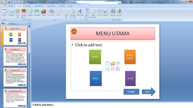 Cara Membuat Link Antar Slide di Powerpoint