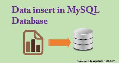 Data insert in MySQL Database