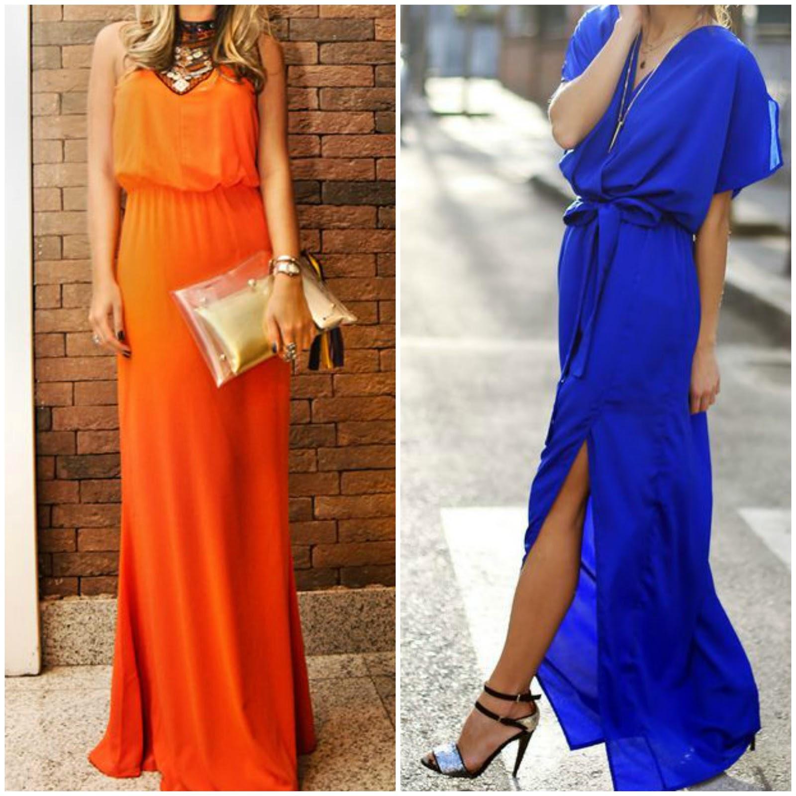 Vestido naranja para boda de dia