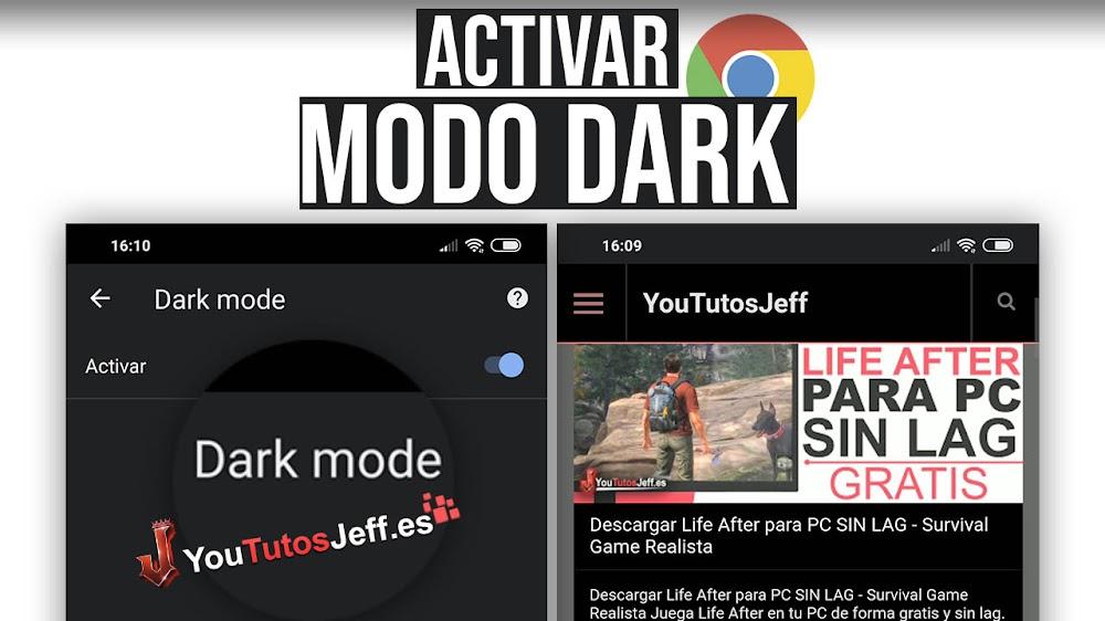 Modo Dark en Google Chrome Android
