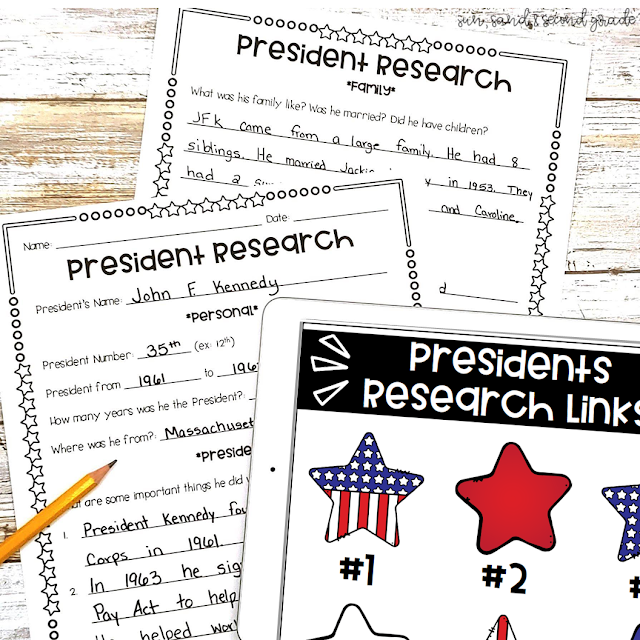 Presidents research project and links