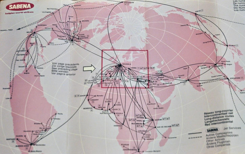 The Timetablist: Sabena: Belgian World Airlines, 1973
