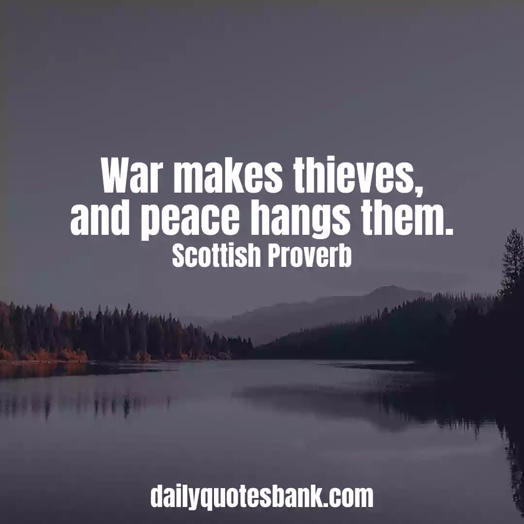 Inspiring Scottish Proverbs About Peace Of Mind For Life Lessons