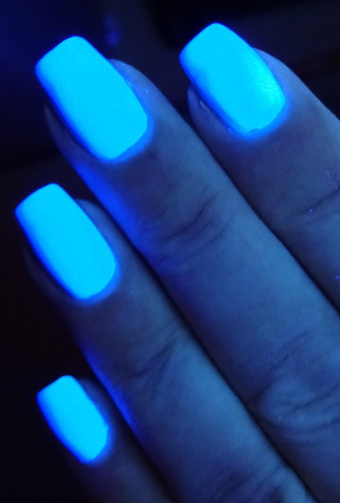 Wendy S Delights Stargazer Neon Blue Nail Polish