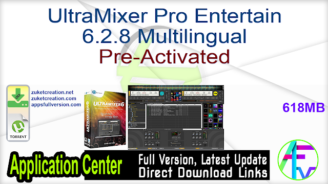 UltraMixer Pro Entertain 6.2.8 Multilingual Pre-Activated
