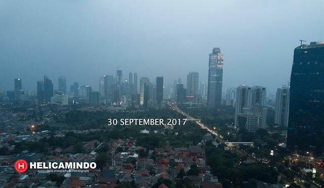 Foto Udara Sekitar Mall CassaBlanka Jakarta tahun 2017