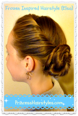 Elsa hair tutorial, Disney's Frozen, hairstyle video