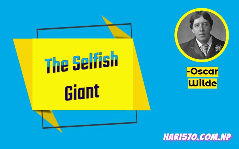 The selfish giant exercise, summary