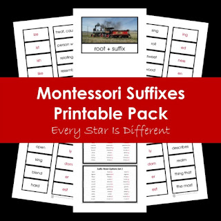 Montessori Suffixes Printable Pack
