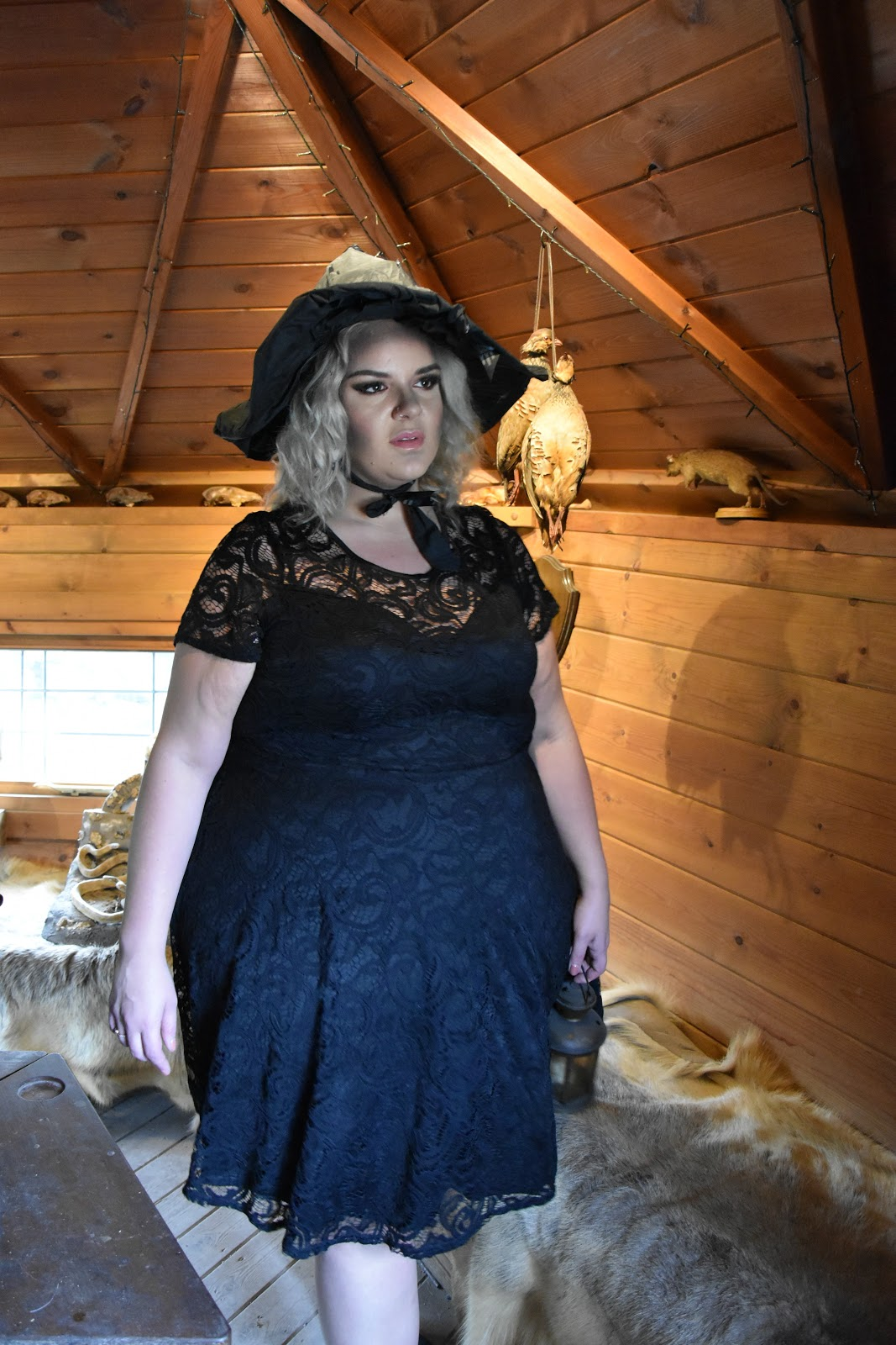 Why The LBD Is A Wardrobe Essential: Feat. A Plus Size Black Lace Dress from Yours Clothing at The Alnwick Garden