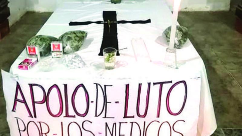 Apolo declaró luto por la pérdida de los médicos voluntarios a quienes llamaban