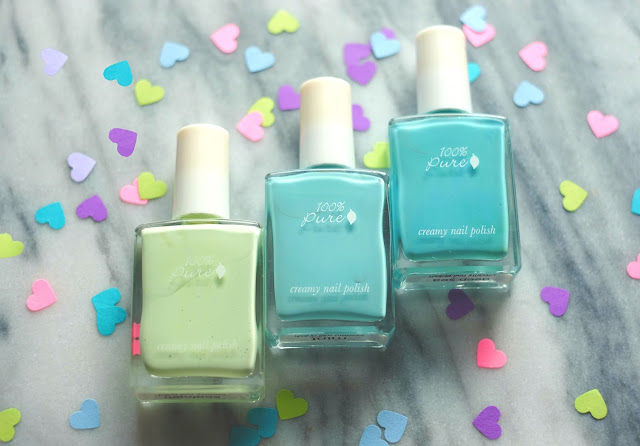 Review of 100% Pure Creamy Nail Polishes
