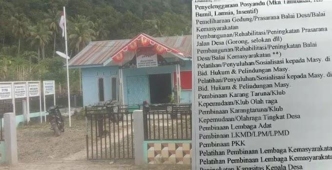 """Dugaan Korupsi Dana Desa, """"Pemecatan Sepihak"""", 16 Desa, TanTom Tapsel"""