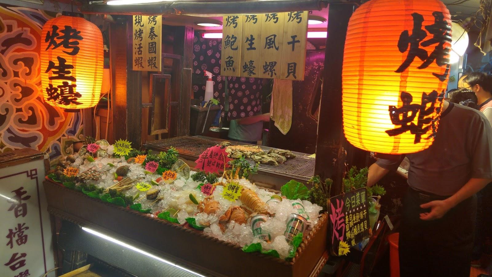 饒河街美食攻略地圖: 萬里香燒烤攤 - 饒河街夜市