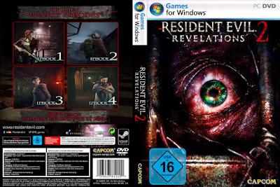 Jogo Resident Evil Revelations 2 Episode 1,2,3 e 4 PT-BR PC DVD Capa