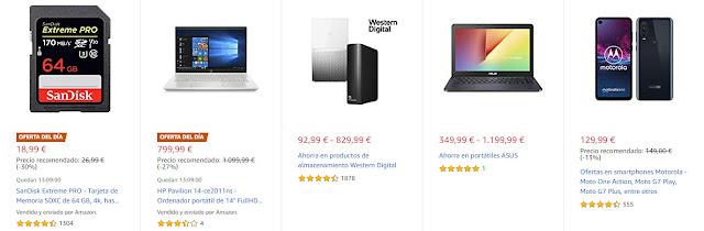 Ofertas 30-10 Amazon 2 Ofertas del Día y 7 Ofertas Destacadas