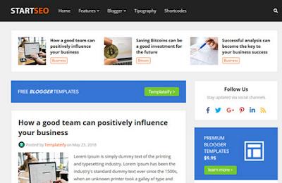 StartSeo - Responsive Blogger Template 2020