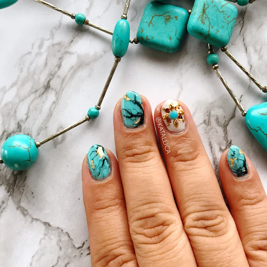 Kawaii Kauaian: This Weeks Nails: Turquoise