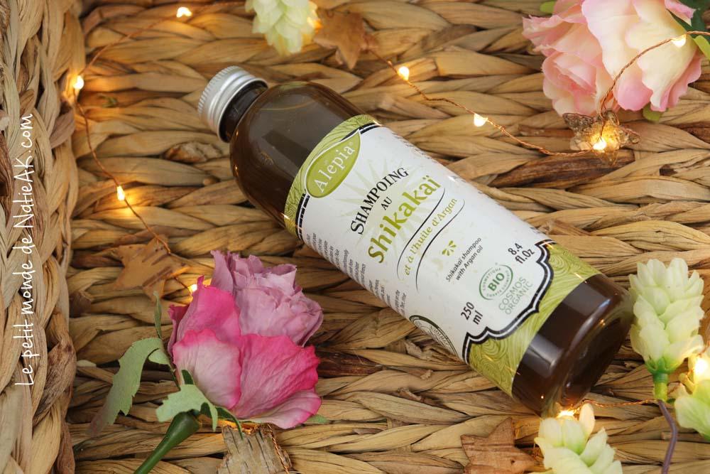 shampoing bio au shikakai et huile d'argan Alepia