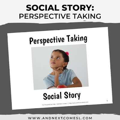 Social story about perspective taking
