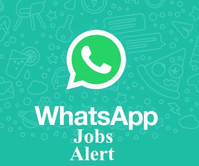 व्हाट्सप्प जॉब अलर्ट - सभी भर्तियों की जानकारी सीधे अपने व्हाट्सप्प के नंबर पर