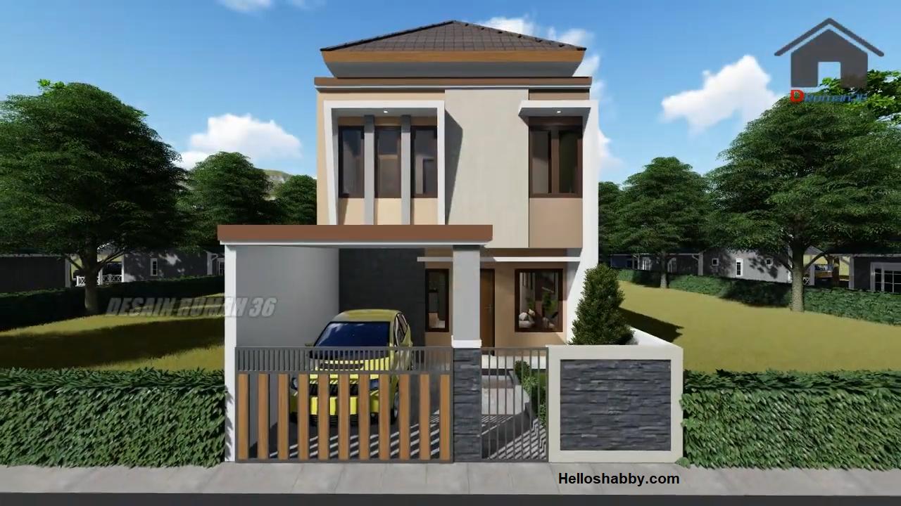 Desain Rumah Minimalis 2 Lantai Ukuran 6 X 12 M Dengan 3 Kamar Tidur Dan 2 Taman Sejuk Helloshabby Com Interior And Exterior Solutions