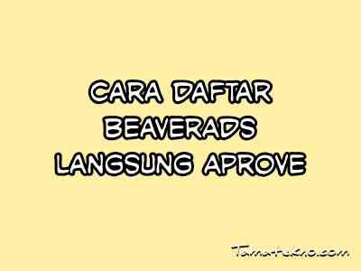 Gambar Cara daftar Beaverads