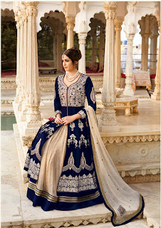 Tulip-Designer Heavy Embroidery With Stone Work With Stylist Neckline Unstitched Suit