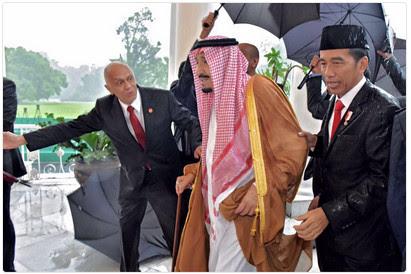 For King Salman, Jokowi got caught in the rain