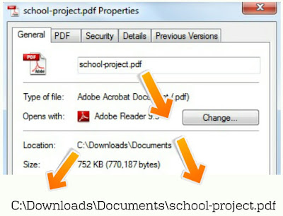 Get Complete File Location using General Properties