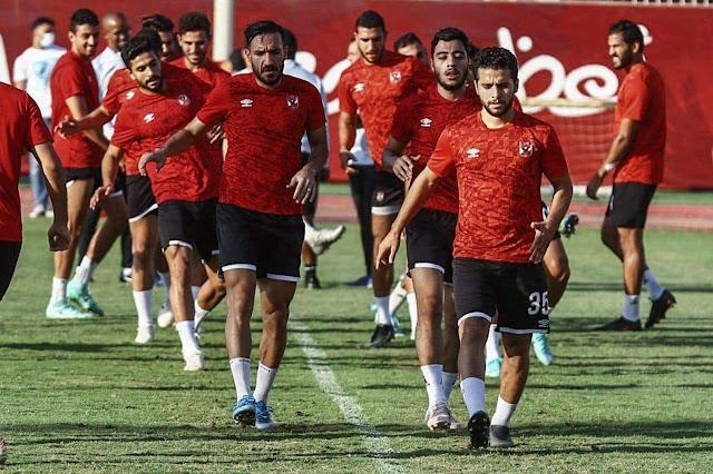 موسيماني يركز على تدريبات الكرة في مران الأهلي