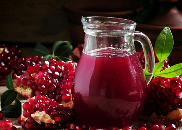 What are the benefits of pomegranate juice the law