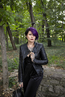 лилава коса