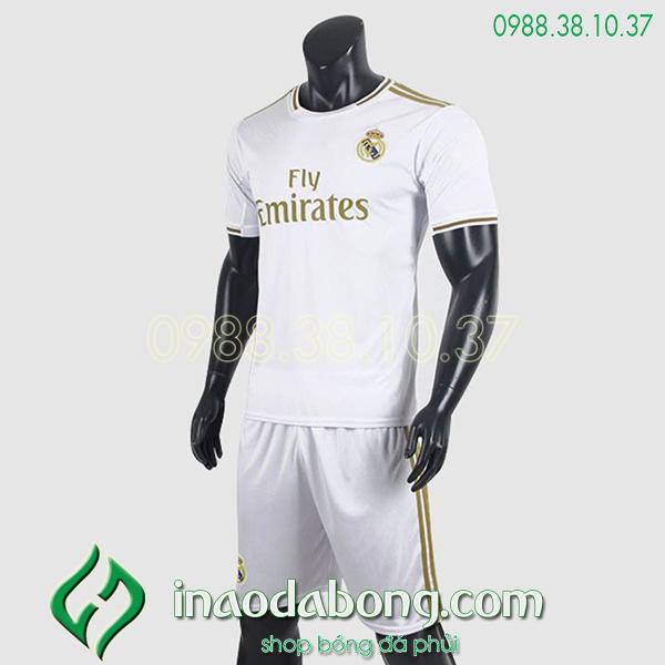 Áo bóng đá câu lạc bộ Real màu trắng 2020