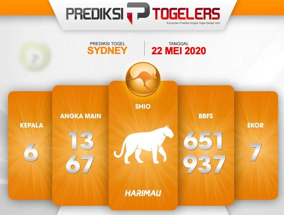 Prediksi Sydney Jumat 22 Mei 2020 - Kode Syair Sydney