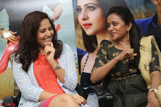 Actress Suma in Black Salwar Suit and Anusuya in orange Dress at winner movie press meet part 2 February 2017 (61).JPG