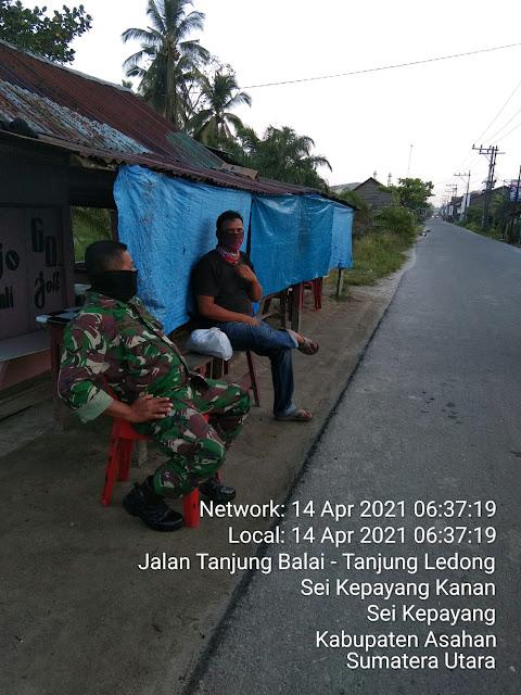 Aktif Personel Jajaran Kodim 0208/Asahan Laksanakan Komos Bersama Warga Desa Binaan