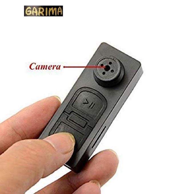 Button Hidden Camera with SD Card Slot