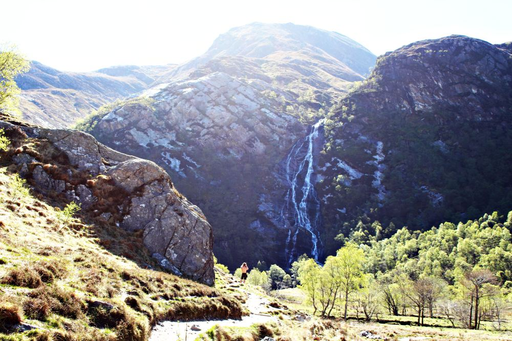 Hiking to Steall Falls at Ben Nevis
