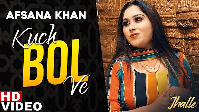 Kuch Bol Ve Lyrics song - Afsana Khan - sargun Mehta - Binnu Dhillon new punjabi song 2020