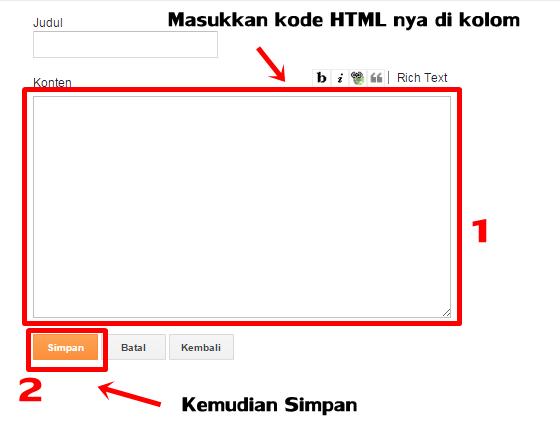Cara Menambahkan Widget HTML/Javascript Pada Blog