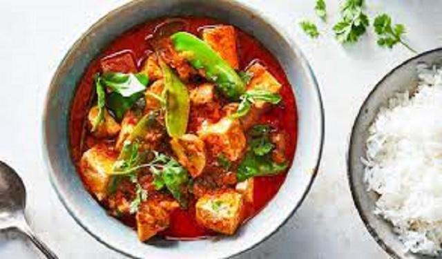Tofu curry vegan no coconut milk