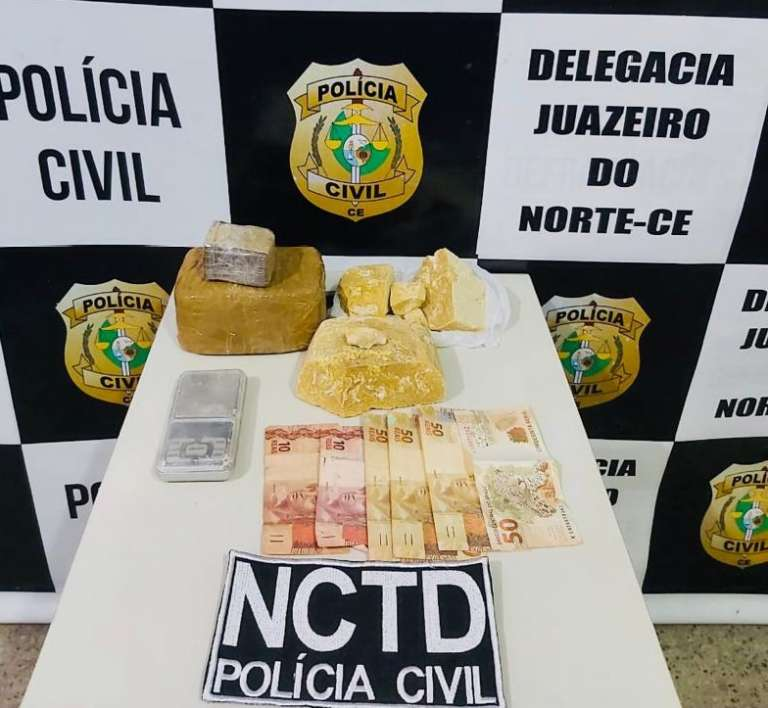 Polícia Civil prende dupla suspeita de envolvimento com o tráfico de drogas no Cariri