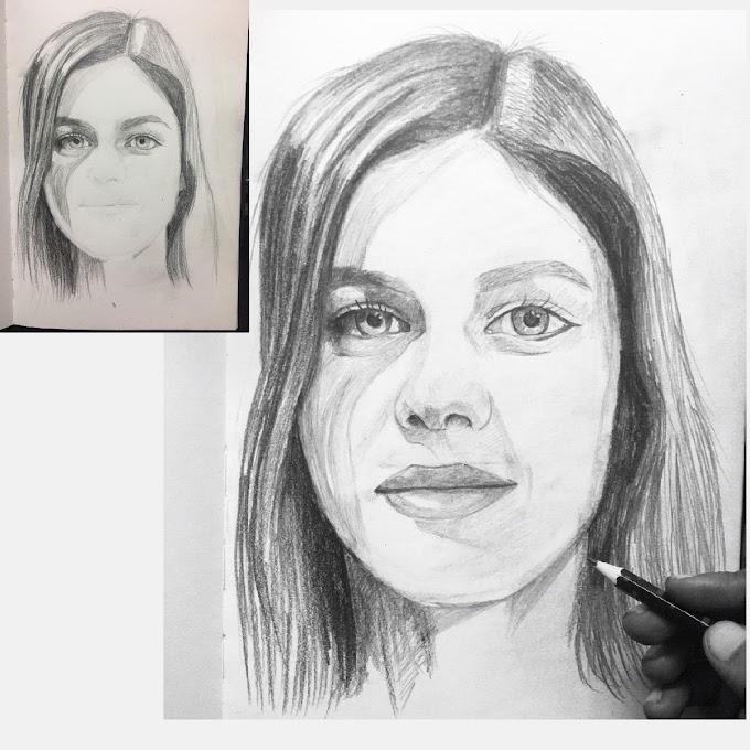 Alexandra Daddario - A 30 minutes quick art.