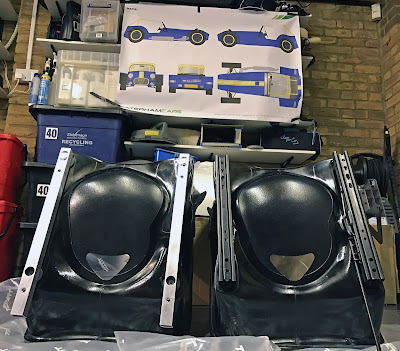 Seat runners fitted to Caterham Tillet Seats