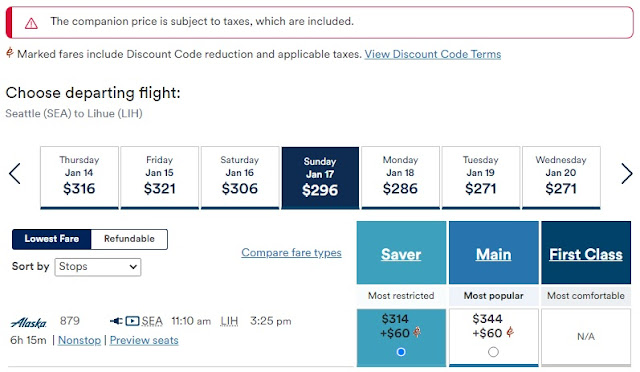 How to Use Alaska Airlines Companion Fare Discount?