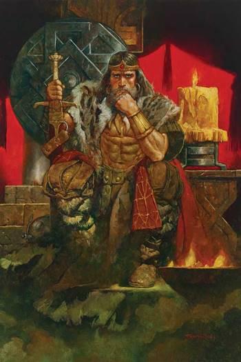 Conan en su representación de Conan Rey