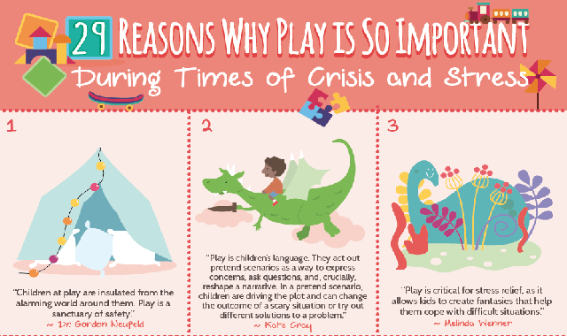 29 Reasons Why Play is So Important During Times of Crisis and Stress #infographic
