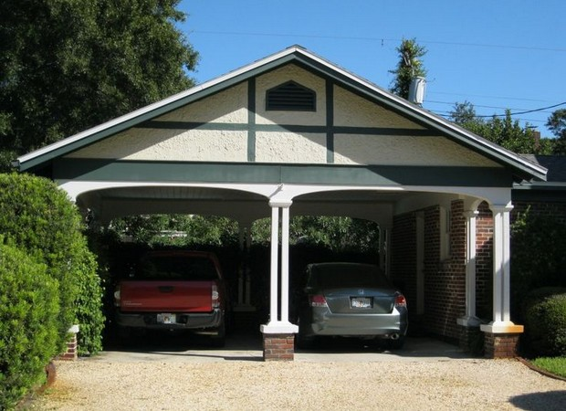 Carport design ideas to beautify facade and bungalow for Backyard carport designs